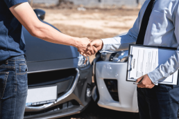 Shaking hands auto insurance